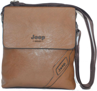 Jeep Buluo Bag for Men , Leather , Brown