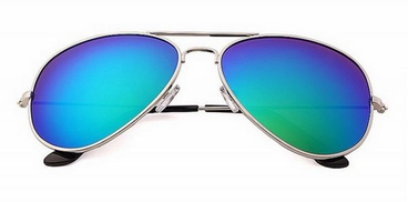 Other Sunglasses to protect against UV color Golden frame blue lenses Item No 530 - 4