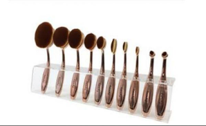 Fresh 10 Pieces Makeup Brushes On Acrylic
