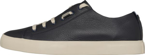 Tommy Hilfiger Unlined Leather Low Fashion Sneakers for Men - Blue