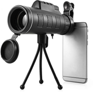 Panda Phone Telescope Monocular Zoom 40x Lens HD Vision with Stand and Phone Clip