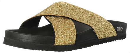 Zee Cruzado Slide Slipper For Women - Gold