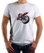 Other T Shirt-Round-Short Sleeve-ART WEAR-3D Work-red Motorcycle