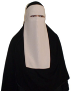 Other Niqab Face of chiffon fabric - beige