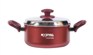 Nouval Lovely Hearts Pot With Stainless Steel Lid 26
