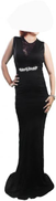 FG Black Fashion Dress Material Reaped With Lace 2 X Large Size