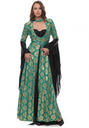 Zmurud Green Mixed Casual Dress For Women