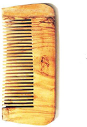 Wood comb without a hand