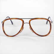 Metalvista Aviator Glass Frame for Men - Gold