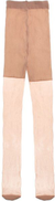 Silvy Voile Tights For Girls - Beige