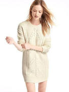 GAP Off White Round Neck Pullover Top For Women
