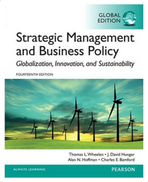 Pearson Education Limited Strategic Management And Business Policy By Multiple Authors