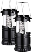 copps 2 Pack Portable LED Camping Lantern Flashlights Survival Kit for Emergency, Hurricane, Outage