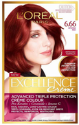 l'oreal paris LOreal Excellence Creme Hair Colour with Pro-Keratin Dark Blonde Deep Red 666