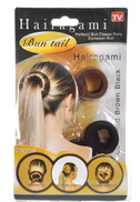hairagami Perfect Bun Classic Pony Tail Maker brown and black set