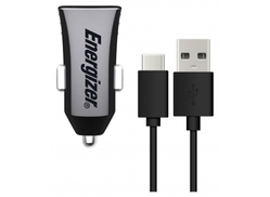Energizer DC2IPGUCC3 Ultimate Car Charger + USB C Black