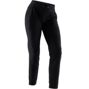 DOMYOS Straight-Cut Fitness Jogging Bottoms with Fitted Cuffs - Black