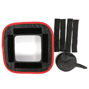 Generic TA Led Soft Cover Photography Fill Light Honeycomb Box Red Black Side Black&red