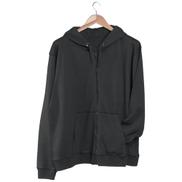 La Marui Hoodie-Jacket, Vislon zipper, front pocket - black