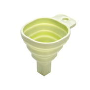 Generic Folding Funnel Small Retractable Tapered Kitchen Fluidl Dispenser Green