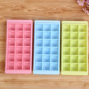 Generic OR Creative Diamond Ice Mold 18 Grids PP Plastic Cube Tray With LidA430