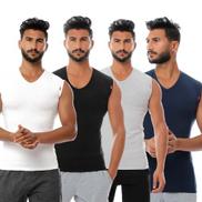 Cottonil Bundle Of 4 Cut V - Men Undershirts