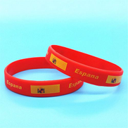 Generic 1 PCS Silicone Wristband Flag Logo Sports Accessories Football Fans Silicone Bands ID Bracelet Souvenir GiftSpain