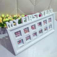 Generic My First Year Baby Photo Frame Picture Display 12 Months Keepsake Collage Wood CUI