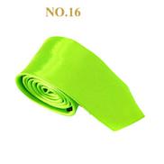 Generic Classic Design Adult Men Neck Tie Soft Formal Business Party Wedding Necktie-No. 16 Bright Green