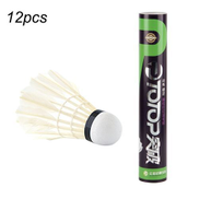 Generic UJ 12pcs set Professional Goose Feather Badminton Competition Gaming Shuttlecock White