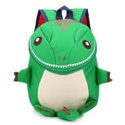 Generic Kids Schoolbag Cartoon Dinosaur Kindergarten BackpackGreen