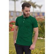 Generic Half Sleeves Polo Shirt - Dark Green