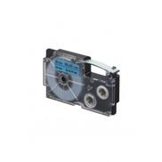 Casio XR-9BU1-W-DJ Black On Blue Label Tape,9mm