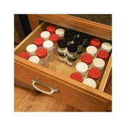 Generic Plastic Seasoning Bottle Storage Spice Racks - 4 Pcs