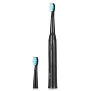 Generic E2 Waterproof Sonic Electric Toothbrush Adult Kids Electric Tooth Brush Automatic Toothbrush With 2 Replacement Brush HeadBlack