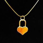 Women's Elegant 18K Gold Plated Pendant Necklace Flower Rose Gemstone 90 cm DAR0097