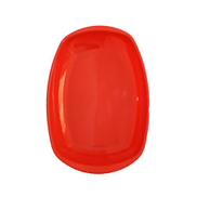 Generic Plastic Serving Plate - Red