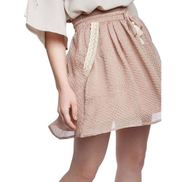 Generic Casual Short Skirt - Beige