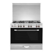 Kiriazi 8604 Gas Stainless Steel Cooker - 5 Burners with Fan