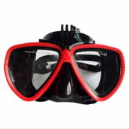 Generic Dry-type And Anti-fog Snorkeling Mask Face Plates Silica Gel Red