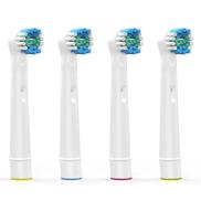 Generic 4 قطع استبدال رؤوس الفرشاة لفرشاة الأسنان الكهربائية المتقدمة الطاقة الصحة انتصار 3D Excel الحيوية الدقة النظيفة