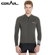 Generic 3MM Neoprene Scuba Diving Suits Men Zipper Closure Surf Dive Wet Suits Nylon Long Sleeve Wetsuits WS 18423Khaki