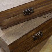 70Pcs set Rubber Stamps Vintage Wooden Box Case Alphabet Letter Number