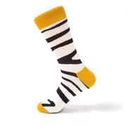 Generic ShopiKhan Black & White Zebra Printed Sock
