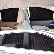 Generic VIP Mesh Interlock Car Window Shade - 2 Pcs - 50cm