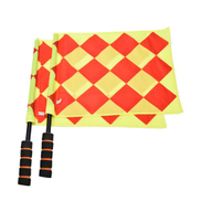 Generic Soccer Referee Flag With Carry Bag Football Judge Sideline Fair Play Use Sports Match Football Linesman Flags Referee Equipment