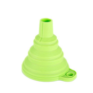 Generic Foldable Mini Retractable Funnel Household Silicone Kitchen Small Fluidl Oil Green