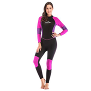 Generic 3mm Neoprene Wetsuit, Women Scuba Diving Thermal Wetsuit In 3mm Full Suit Back Zip For Scuba Diving Surfing Fishing Kayaking1225A