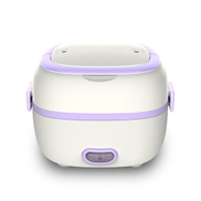 Generic OR Multifunctional Electric Lunch Box Mini Rice Cooker Portable Food Steamer Purple
