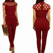 Generic Solid Women's Romper Suit - Red